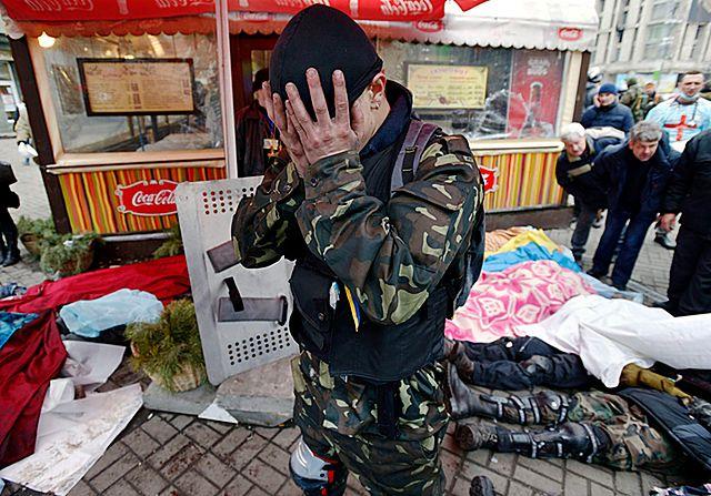 Krew i ogień w Kijowie. Najbardziej poruszające zdjęcia