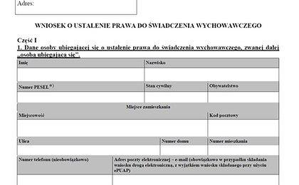 Wniosek o 500 zł na dziecko. Rozporządzenie z wzorem opublikowane