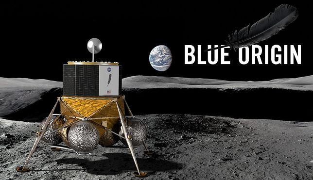 """Wysłanie """"Blue Moon"""" na powierzchnię Księżyca ma być pierwszym etapem kolonizacji"""