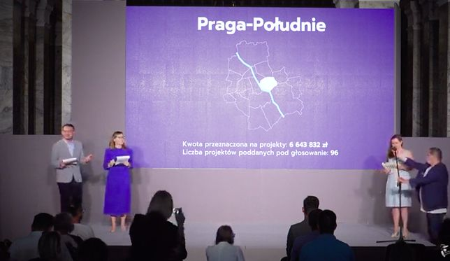 Warszawa. Zwycięskie projekty budżetu obywatelskiego wybrane. Odczytane zostały podczas specjalnej gali w Pałacu Kultury i Nauki