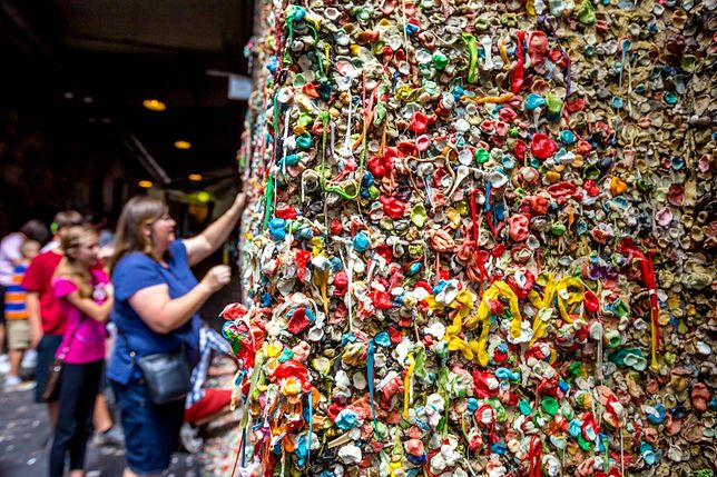 Ohydne atrakcje - Gum Wall, Seattle, USA