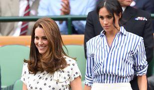 Meghan Markle i Kate Middleton podczas Wimbledonu w 2018 roku