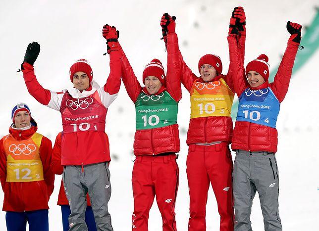 Reprezentacja Polski w skokach narciarskich po drużynowym konkursie na dużej skoczni