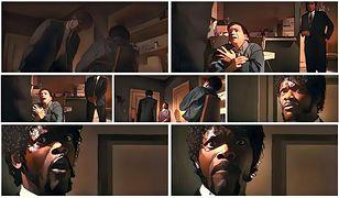 """Kadry z kultowego filmu """"Pulp Fiction"""" w wersji Comixify"""