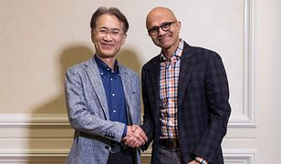 Kenichiro Yoshida (CEO Sony) i Satya Nadella (CEO Microsoftu)