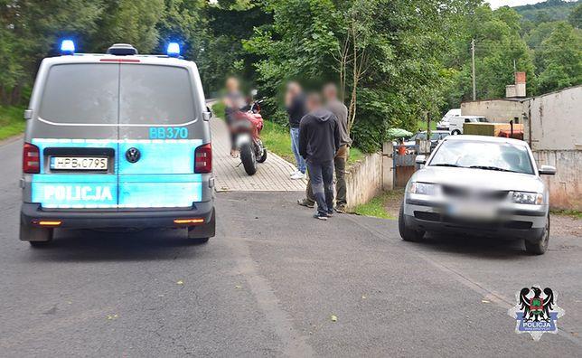 Wypadek motocyklisty w Dziećmorowicach. 35-latek w szpitalu