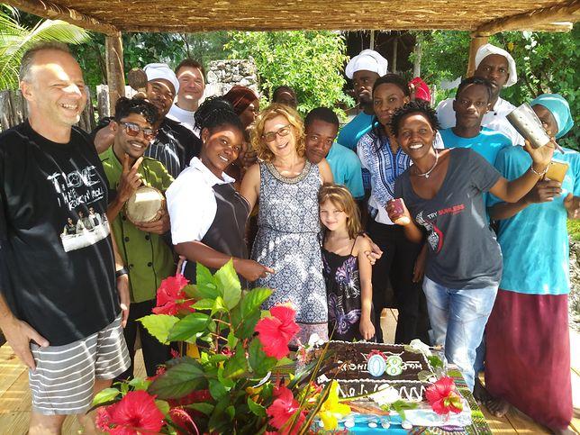 Na Zanzibar Joanna Frenkiel pojechała z mężem i trójką dzieci
