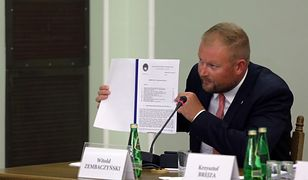 Witold Zembaczyński podczas posiedzenia komisji śledczej ds. Amber Gold