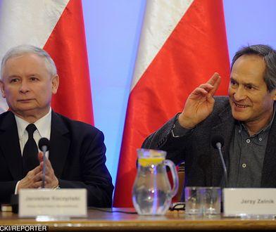 Jerzy Zelnik i Jarosław Kaczyński na konferencji poświęconej kulturze w widzeniu PiS