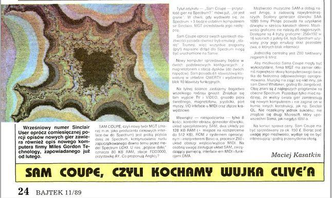Bajtek z listopda 1989 roku
