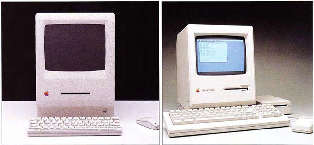 Dwie koncepcje liftingu Macintosha. Ta po prawej, to Macintosh Plus.