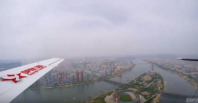 Pjongjang z lotu ptaka.