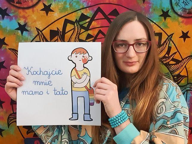 """Karolina Plewińska, znana też jako """"Szarosen"""", stworzyła jeden z najpopularniejszych billboardów w Polsce"""