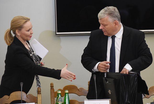 Andżelika Możdżanowska i poseł PiS Marek Suski