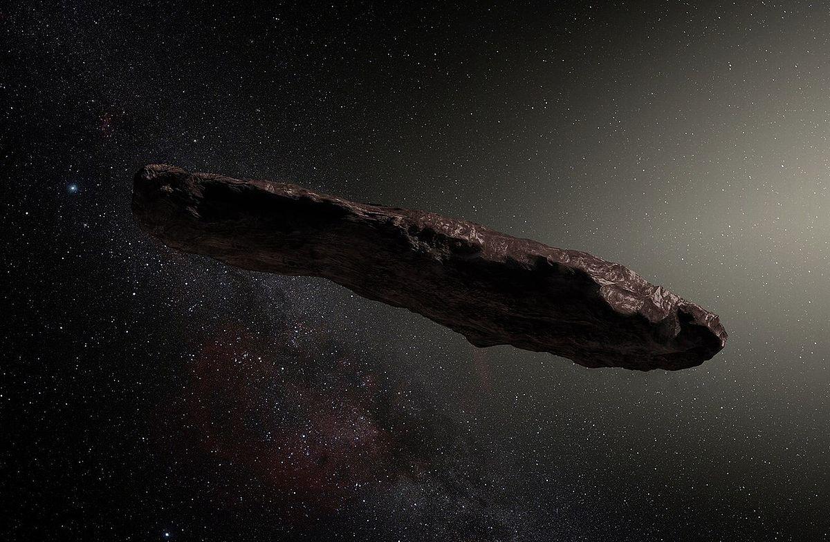 Komputerowa wizualizacja Oumuamua'y