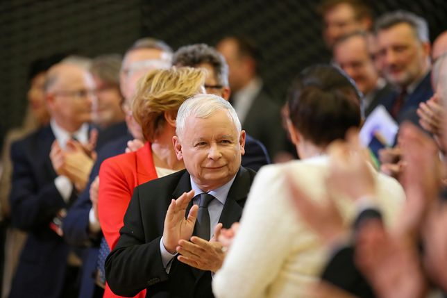 Prezes PiS Jarosław Kaczyński. Partia rządząca zebrała najwięcej podpisów.