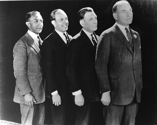 Bracia Warner, od lewej Albert, Jack, Sam i Harry