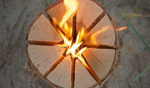 Szwedzka pochodnia to jeden z bardziej oszczędnych sposobów na ognisko
