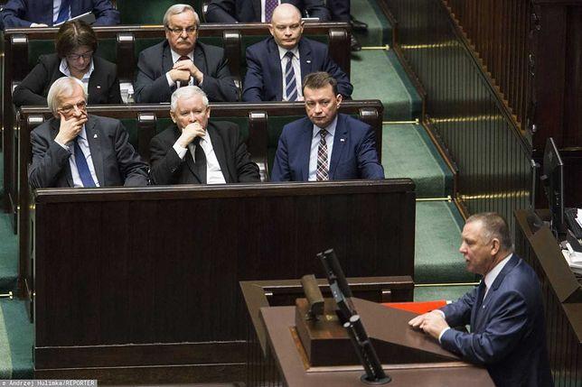 Jarosław Kaczyński i Marian Banaś w Sejmie.