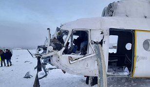 Śmigłowiec Mi-8 tuż po wypadku