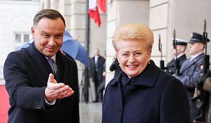 Wizyta prezydent Litwy. Andrzej Duda wspomniał o polskich napisach