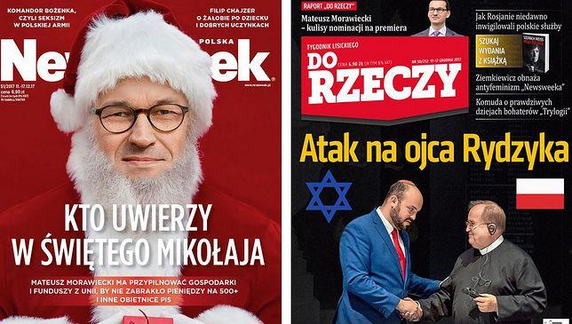 Morawiecki jako św. Mikołaj. Tygodniki pokazały okładki, jedna odstaje od reszty
