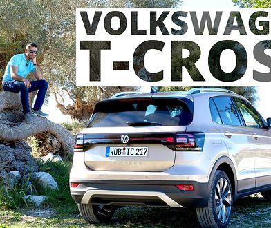 VW T-Cross - pierwszy test z czerwonym rogalem mocy