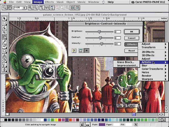 Corel Photo Paint 8 for Mac.