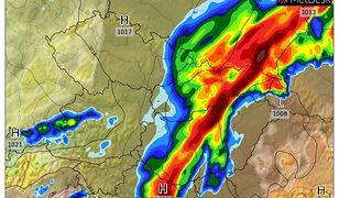 Prognoza pogody. Mapa opadów
