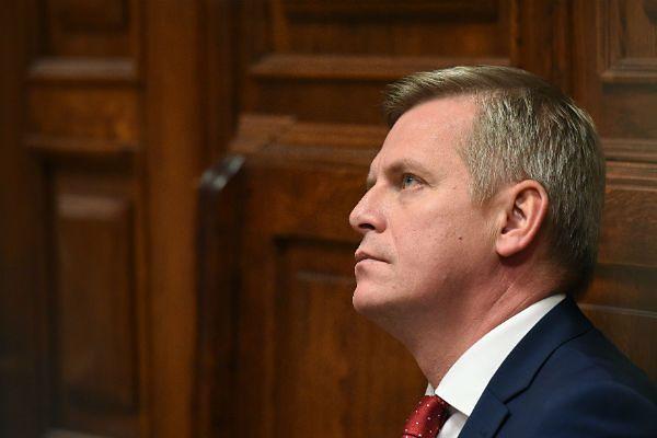 Były wiceszef BOR gen. Paweł Bielawny podczas posiedzenia sądu