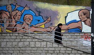 Mural w Semferopolu przedstawiający Władimira Putina