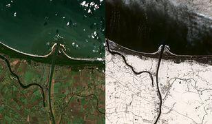 Ujście Wisły. Zimowe zdjęcia z satelity