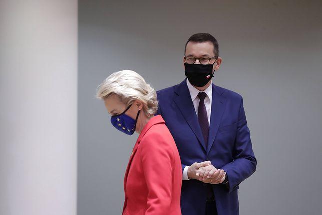 Miliardy euro dla Polski wstrzymane? Media: Komisja Europejska ma wsparcie innych krajów. Na zdjęciu szefowa KE Ursula von der Leyen oraz premier Mateusz Morawiecki