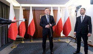 Prezydent Andrzej Duda i jego rzecznik Błażej Spychalski