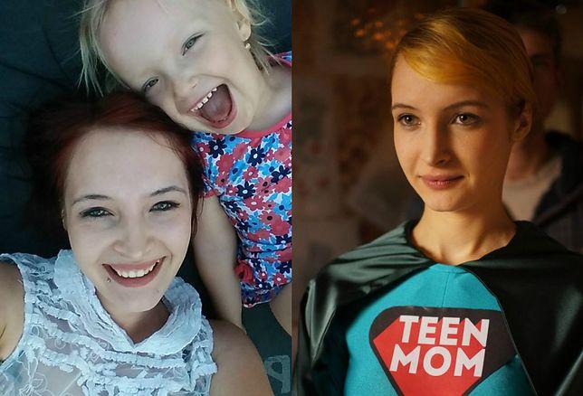 """Iza dziś z córką i 6 lat temu, kiedy kręcony był program """"Teen Mom Poland""""."""