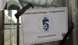 Konserwacja windy w dzień? Bez sensu!