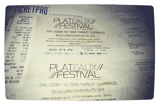 Plateaux Festival 2012 - festiwal form audiowizualnych
