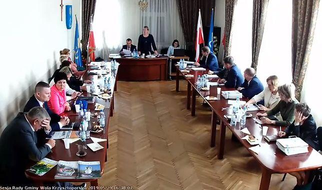 Sesja Rady Gminy Wola Krzysztoporska.