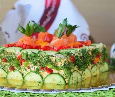 Szwedzki tort kanapkowy