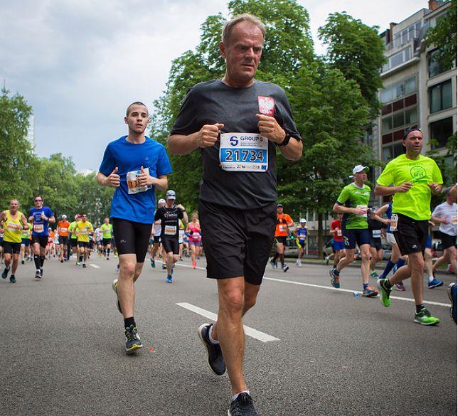 Donald Tusk pochwalił się zdjęciami z biegu na Instagramie