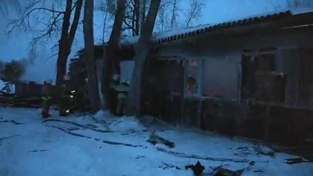 Pożar w drewnianym domu wybuchł przed północą