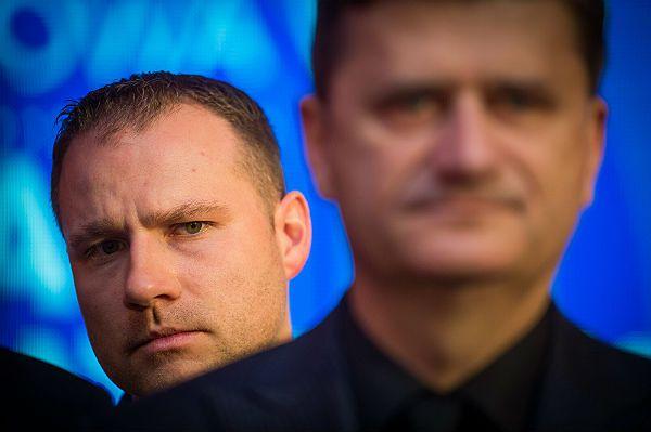 Poseł Twojego Ruchu Łukasz Krupa i Janusz Palikot
