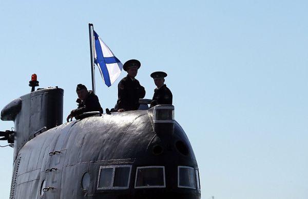 """Rosyjscy marynarze na okręcie """"Zaporoże"""""""