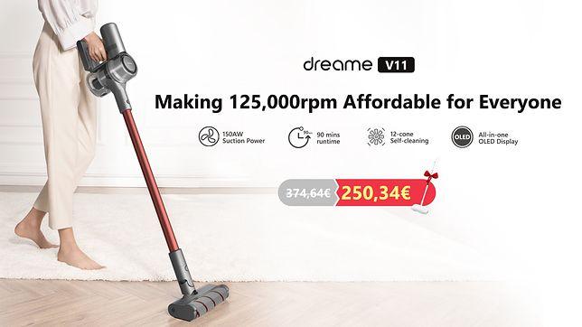 Pionowy odkurzacz Dreame V 11 – szybki, cichy i dokładny. Niedługo będzie też tańszy!