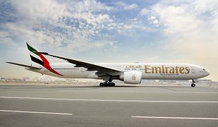 Samolot Boeing 777-300ER firmy Emirates Airlines.