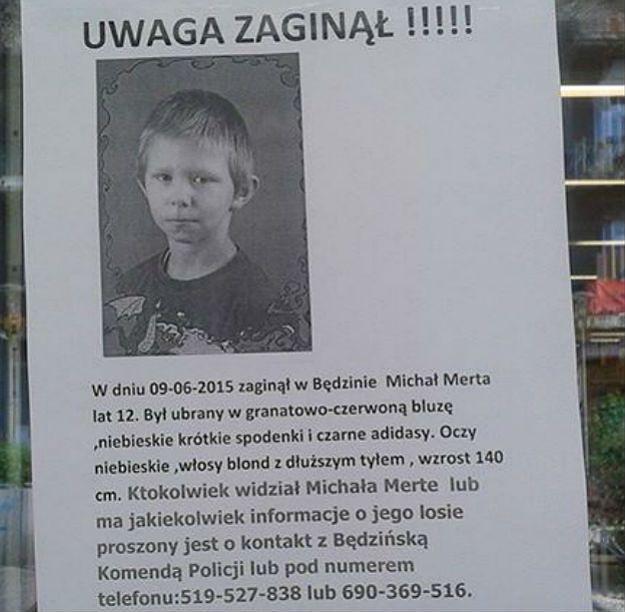 Trwają poszukiwania 12-latka z Będzina. Widziałeś go?