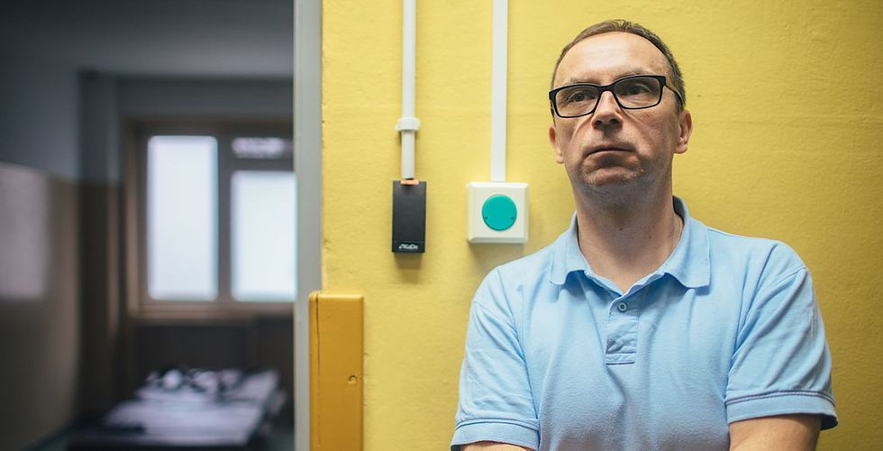 Paweł Ludwig, ratownik medyczny i szef zmiany w czasie, gdy powstawał nasz reportaż