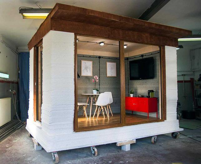 Domek z betonu z drukarki 3D. Pierwszy taki w Polsce