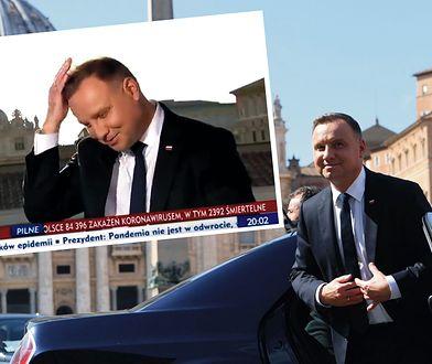 Zaskakujący wywiad prezydenta dla TVP. Andrzej Duda przeprosił widzów