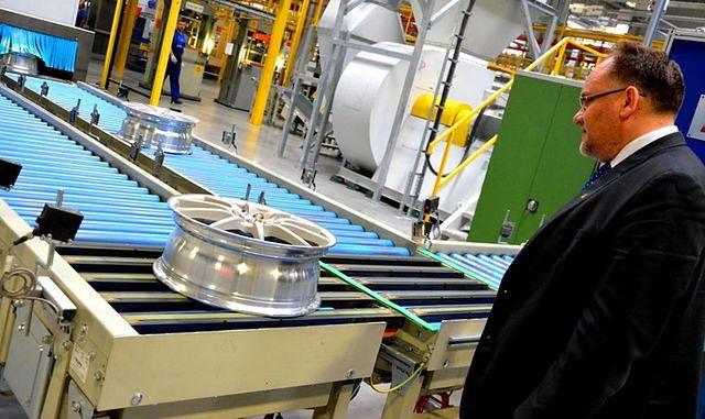 W Wałbrzychu otwarto fabrykę felg aluminiowych